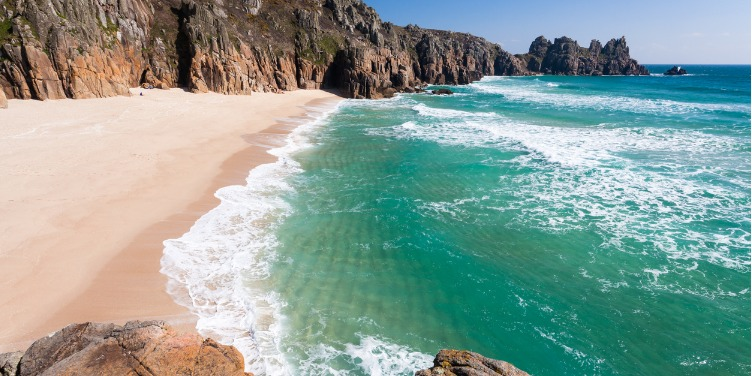 an image of Pedn Vounder beach in Cornwall