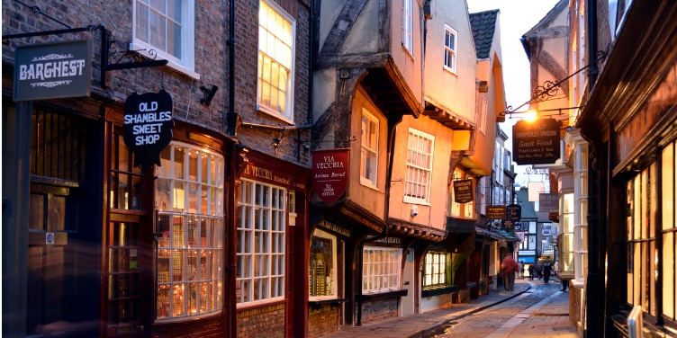 an image of a narrow street in Shambles, York