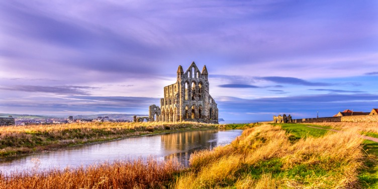 an image of the Whitby Abbey Ruins in Yorkshire
