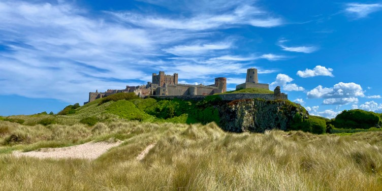 an image of Bamburgh Castle in Northumberland