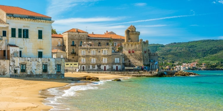 The village of Santa Maria di Castellabate on the Cilento coast