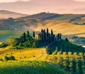 Landscape view of Tuscany in Italy